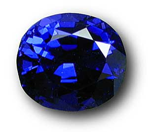 Spinel colored by cobalt is one of the delights of the gem kingdom. Above is a particularly fine example. (  Photo:   John McLean  ;   Stone: Dr. Richard Bartholomeau)