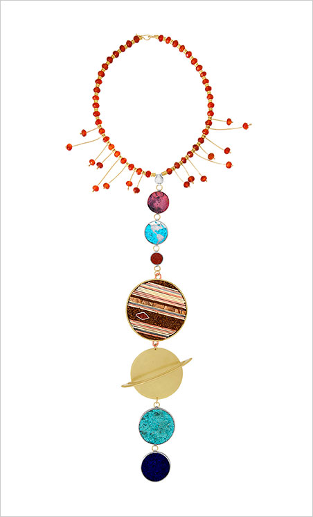 No Pluto, so this is cosmically correct. Necktie, designed and owned by Megan Isaacs. (Photo courtesy Carnegie Museum of Natural History, Pittsburgh)