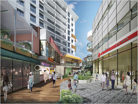 Artist's rendering of the retail area of KrisPLAZA, a mixed-use venture, that will be flanked at north and south by the Gem Museum and the Mani Yadana Jade Hall. It is due to be completed next summer.