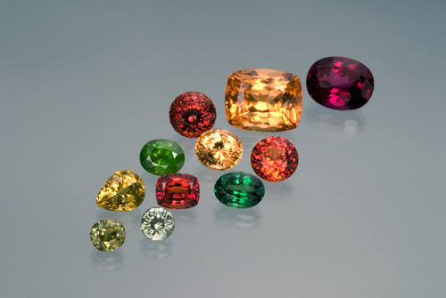 A suite of garnets from around the world