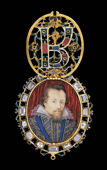 The Lyte Jewel.  Enameled gold set with diamonds, 1610. The locket contains a portrait by Nicholas Hilliard of James VI and I of Scotland and England. The Waddesdon Bequest. (Photo © The Trustees of the British Museum)