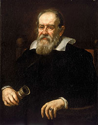Portrait of Galileo Galilei by Giusto Sustermans, 1636.