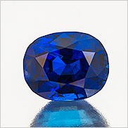 True blue. Five carats. Natural color. Burma sapphire. Inventory #21891. (Photo: Mia Dixon)