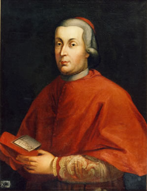 Cardinal Stefano Borgia, who originally came into possession of the axe head.