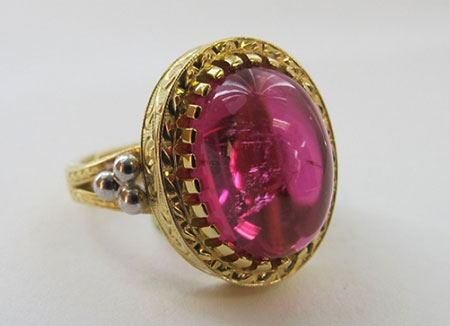 Pink tourmaline ring by Andrew Sarosi. (Photo courtesy Andrew Sarosi)