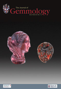 On the cover.  A pair of ancient cameo carvings. The Hellenistic pyrope-almandine carving on the left (19.1×12.9 mm) is a royal portrait of a Ptolemaic Queen. On the right is a pyrope cameo of the head of Eros encircled by a plaque (11.7×9.5 mm), a popular motif in Roman glyptic of the 1st century BCE/CE. Inv. nos. 81.AN.76.59 (left) and 83.AN.437.42 (right, gift of Damon Mezzacappa and Jonathan H. Kagan), J. Paul Getty Museum, Villa Collection, Malibu, California. (Photo: Harold and Erica Van Pelt)