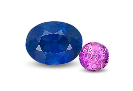 Rwanda sapphires , 1.32 and 0.64 ct; unheated. RWH Collection. (Photo: Wimon Manorotkul)