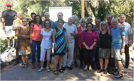 Made in the shade. Members of the American Jewelry Design Council visited Pala International and The Collector Fine Jewelry recently. We'd like to give a shout out to longtime Pala friend and fan Jose Hess, center in white shirt and pants. We love you! (Photo: Bill Larson)