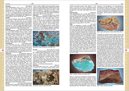 A sample from the book. (Click to enlarge.) Minerals and Their Localities is considered the most comprehensive mineralogical encyclopedia. This edition has updated both minerals and localities and has about 25% more text than the first and second editions.