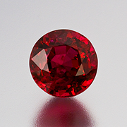 Mmm. A deep red Burma ruby, 2.61 carats, enhanced. Inventory #19506. (Photo: Mia Dixon)