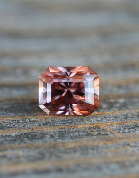 Gem dumortierite  from the Umba Valley in Tanzania, striking octagon cut 7.8 x 6.26 x 5.5 mm, 2.14 carats. (Photo: Mia Dixon)