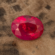 Red Hot.  This beautiful 2.57-carat Burma ruby was enhanced only by heating. Inventory  #22774 . (Photo: Mia Dixon)
