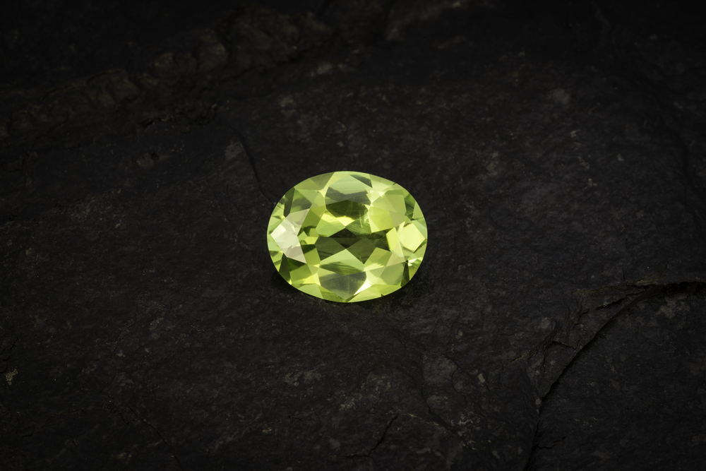 Chrysoberyl from Orissa, India, 15.13 carats, 17.99 x 14.75 x 7.55 mm. Inventory #22929. (Photo: Mia Dixon)