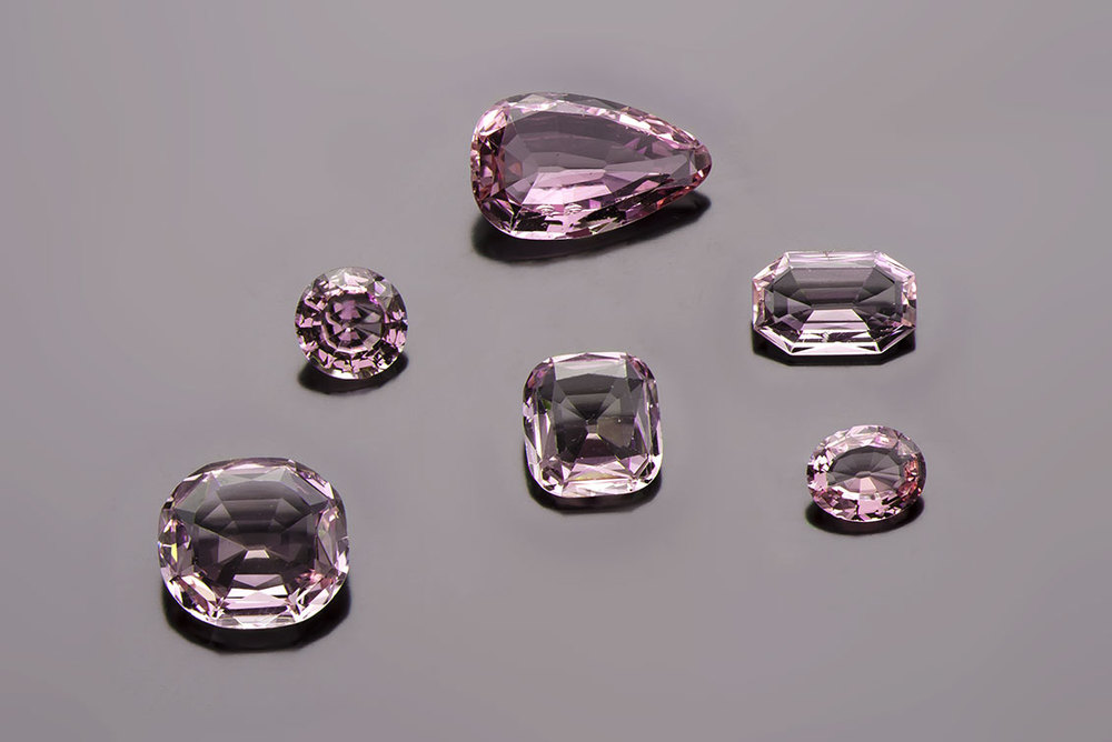 "Rubis brésiliens. These gemstones were acquired by Napoléon Bonaparte to create an ornament of ""Brazilian Rubies""—pink topazes from Minas Gerais—for Empress Marie-Louise. (Photo: © MINES ParisTech – A. Stenger)"
