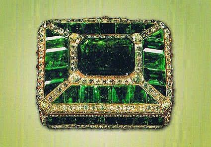 "Meen and Tushingham (93): ""For its size, the little box is probably the most valuable of all the jewels, apart from the Darya-i Noor."""