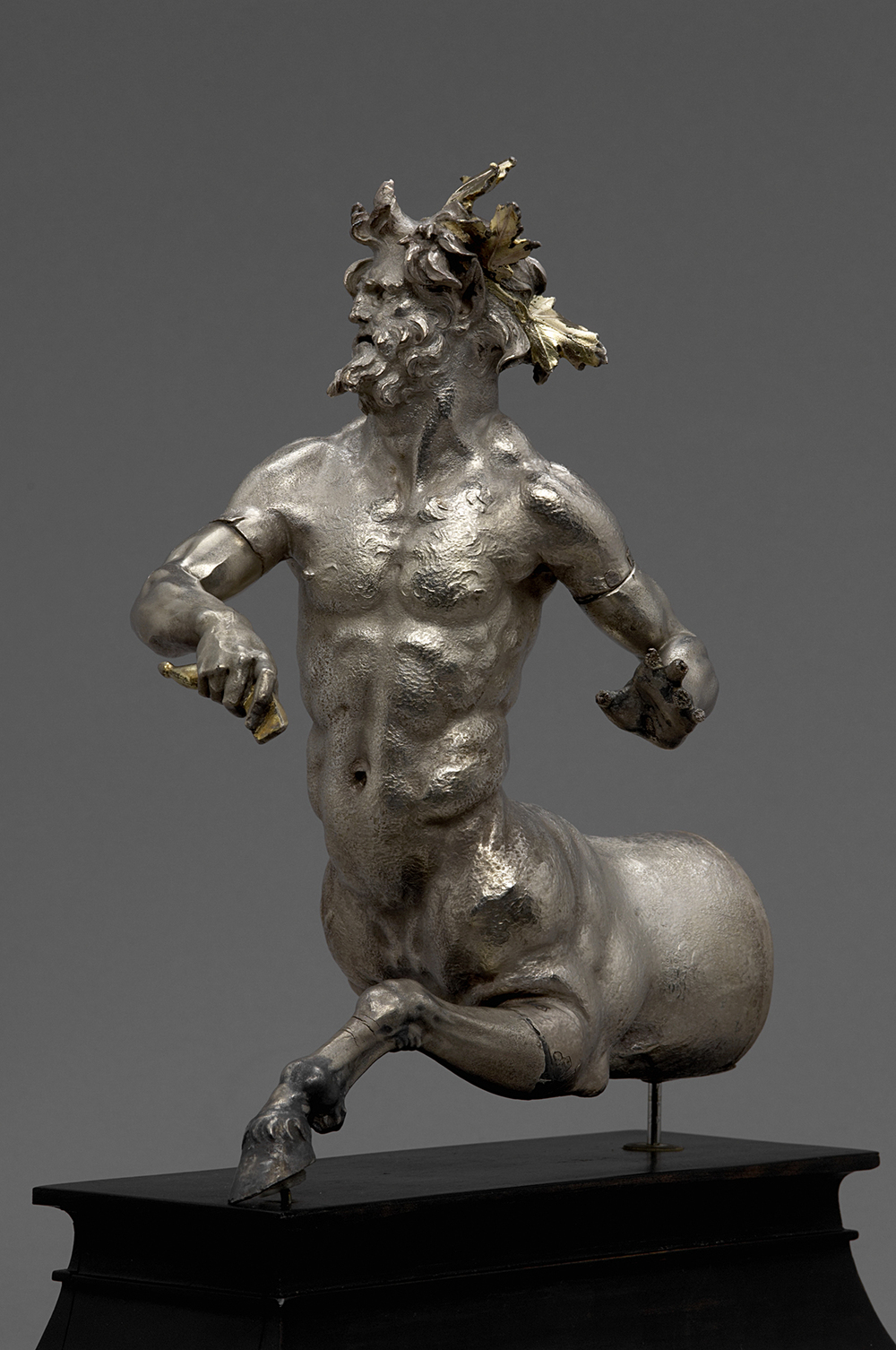 Rhyton (drinking vessel) in the form of a Centaur. Greek, Seleucid, Hellenistic period, ca. 160 B.C.E. Silver with gilding. H. 22 cm. Antikensammlung, Kunsthistorisches Museum, Vienna (VIIa 49).
