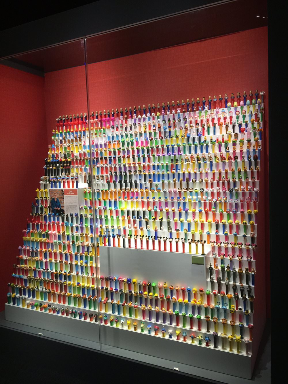 Dozens of dispensers. PEZ turns 90 next year, and it's hard to imagine that its dispensers didn't always sport their famous and ever-changing heads. Carla Eames Hartman has collected many of the best. (And, yes, she's the daughter of design legends Charles and Ray Eames.) Click to enlarge and see how many PEZsters you can ID. This is another display from Eye of the Collector. (Photo: Will Larson)