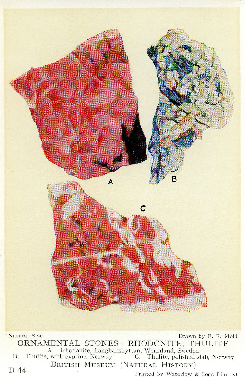 Rhodonite etc.