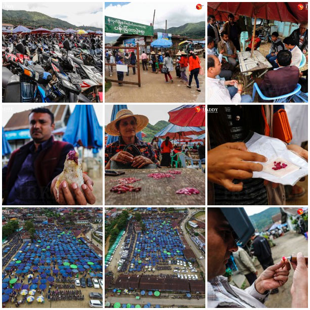 """Low-Grade Gems in High Demand in Moe Goke"" is the title of The Irrawaddy's look last month at Mogok's Hta Pwe gem market, which includes a twelve-image slide show, as above."