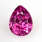 Pink pear.  Here's a perky pear-shaped natural pink sapphire, 1.98 carats, from Burma. Inventory  #12738 . (Photo: Mia Dixon)