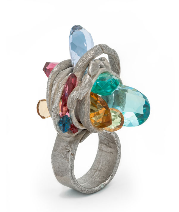 Mineral.  This ring looks like it could have been created for a Marilyn Minter  project  (well, she and Karl Fritsch are both associated with the gallery Salon 94). Karl Fritsch,   Ring  , 2005, Los Angeles County Museum of Art. Gift of Lois and Bob Boardman (M.2013.221.12). © Karl Fritsch. (Photo © Museum Associates / LACMA)