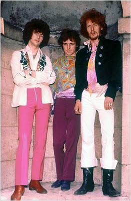 March of the falsettos. Members of Cream, from left, Clapton, Bruce and Baker. Clapton happens to be wearing two necklaces.