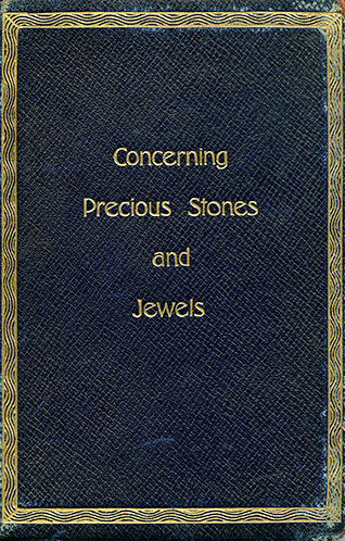 CONCERNING PRECIOUS STONES Issued by Theodore A. Kohn & Son READ MORE »