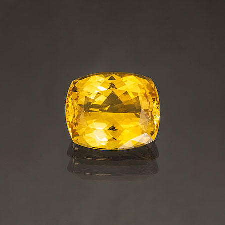 Golden Danburite from Tanzania, 51.29 carats. Danburite is a crystalline mineral similar to topaz. It has a Mohs hardness of 7 to 7.5, so it's very wearable. (Photo: Mia Dixon)