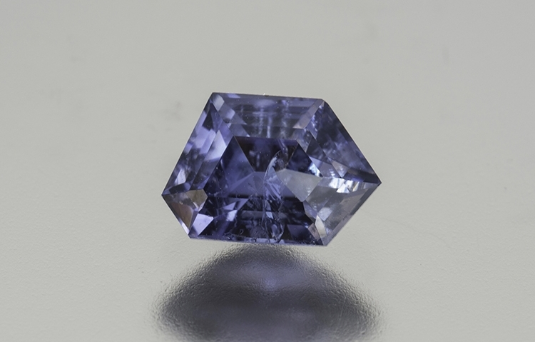 1.55 ct. fancy cut benitoite, Inventory  #18850 . (Photo: Mia Dixon)