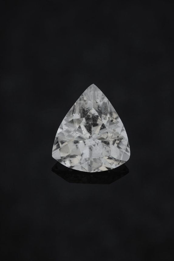 Brilliantly cut colorless 2.32 cts. phenakite. (Photo by Mia Dixon)