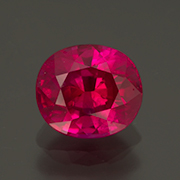 Okay, so it's heated. This beautiful 1.38-carat Mong Hsu ruby comes with an AGL cert. Inv. #23617. (Photo: Mia Dixon)