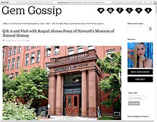 MUSEUM MUSINGS WITH GEM GOSSIP READ MORE »