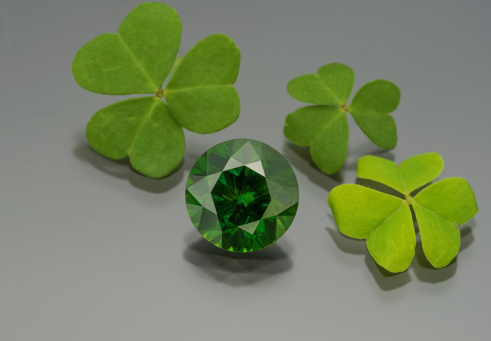 One lucky demantoid garnet! This Russian beauty is 10.00 cts.  Inventory #22004.  (Photo: Mia Dixon)