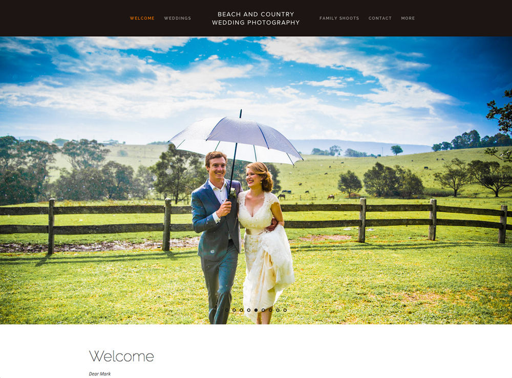 Beach and Country Wedding Photography | $2200