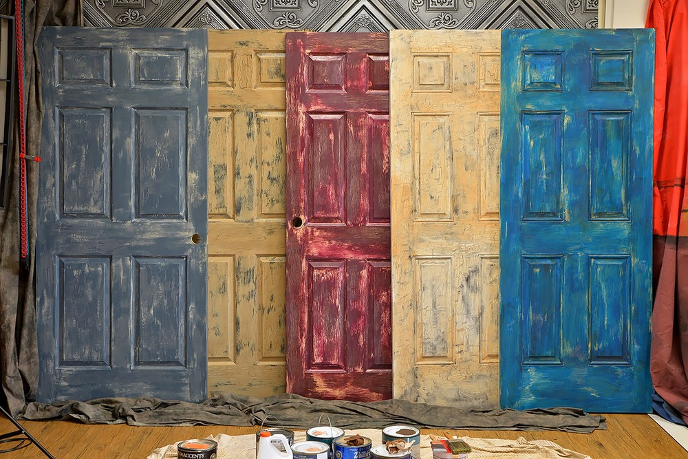 Several finished doors