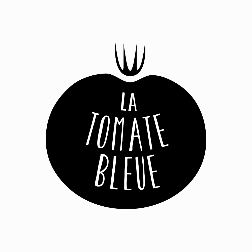 Logo & visual identity for French pizzeria  La Tomate Bleue . 2014, Uzès, France.  View project