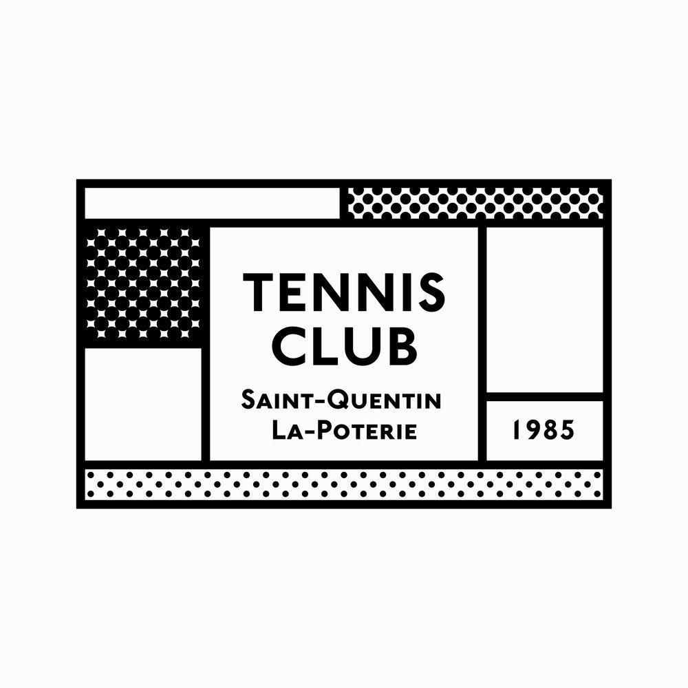 Logo for a French Tennis Club. 2017, Paris, France.