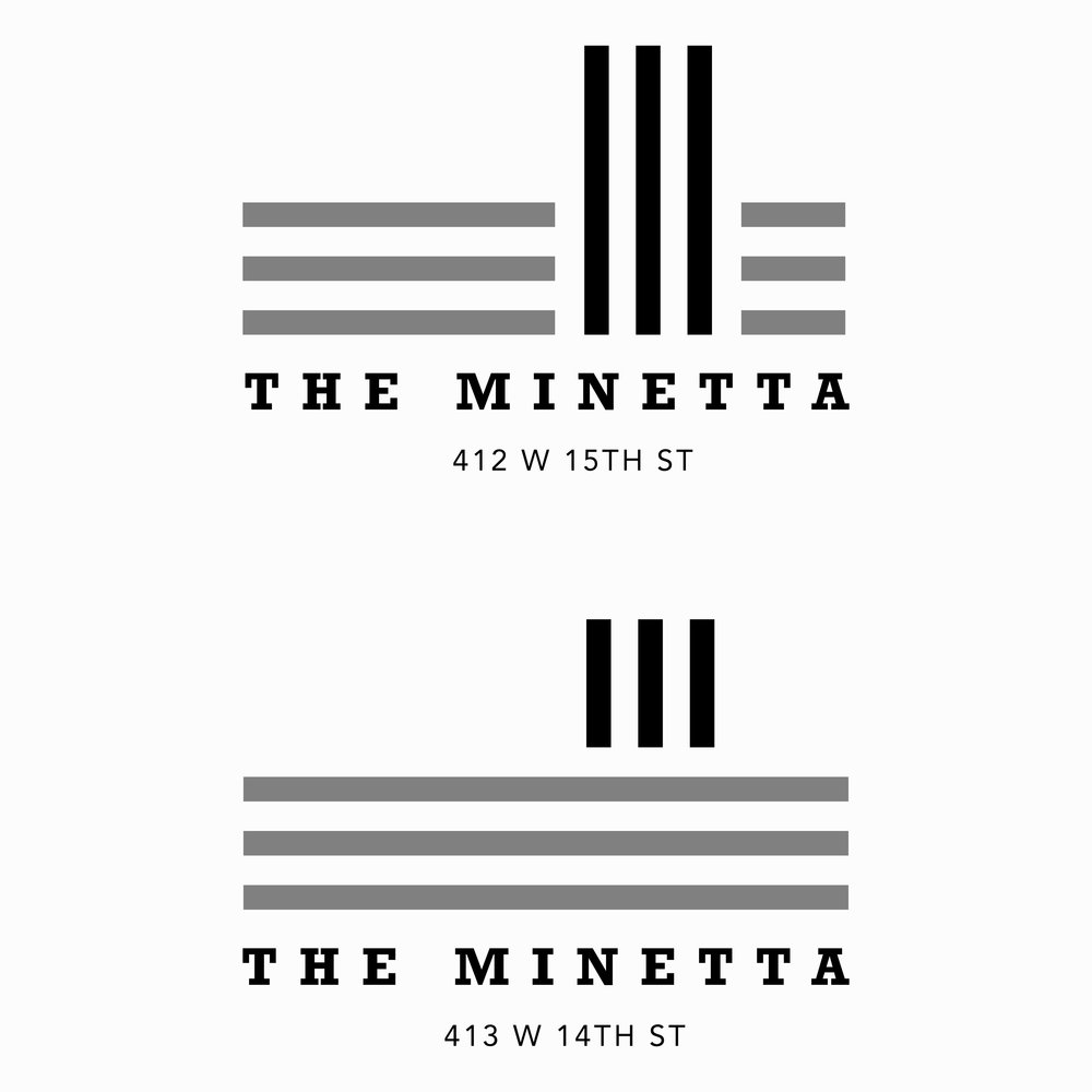 Logo for  The Minetta , a Meatpacking District Office .  2015, New York, USA.