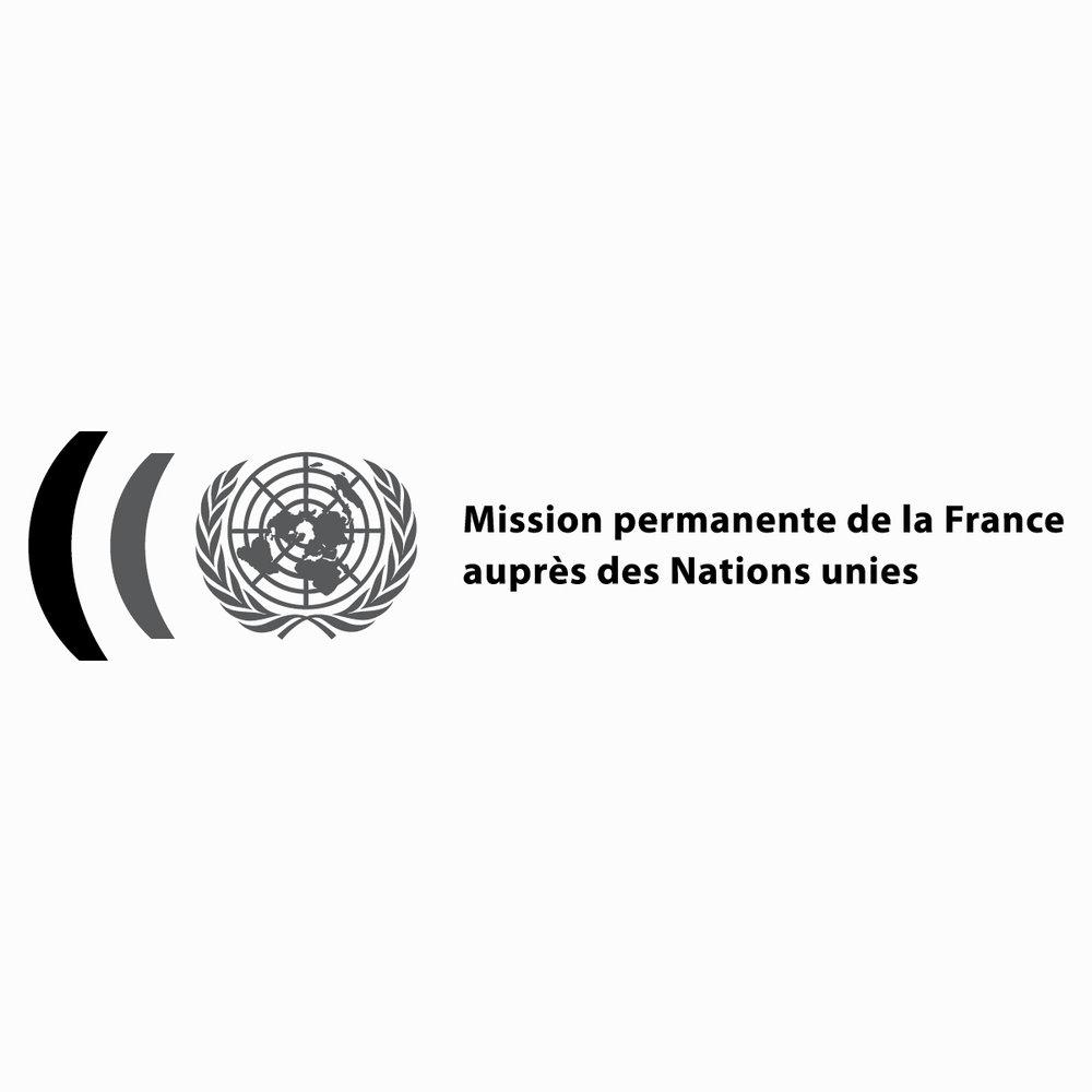 Logo lifting for the  Mission permanente de la France auprès des Nations Unies . 2015, New York, USA.
