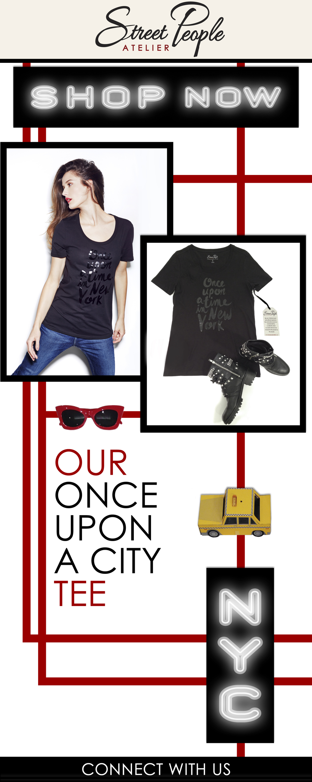 Email: Our Once Upon a City tee geo
