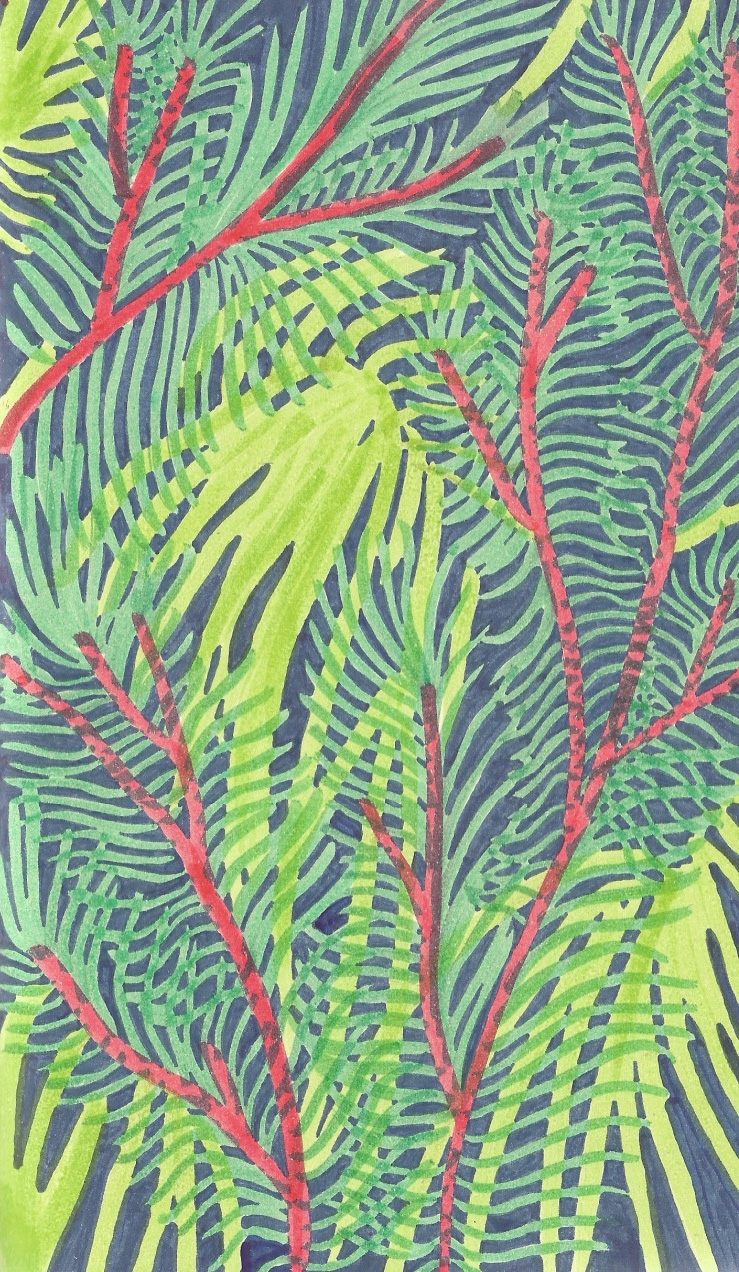 Jungle drawing, 2015