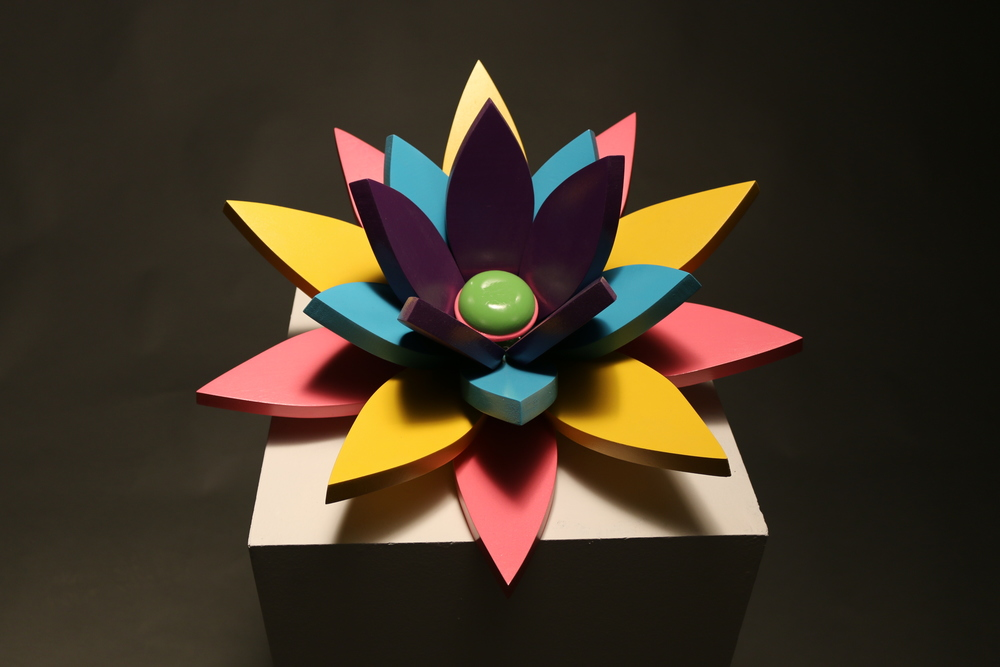 Wood Flower, 10.5x18x18