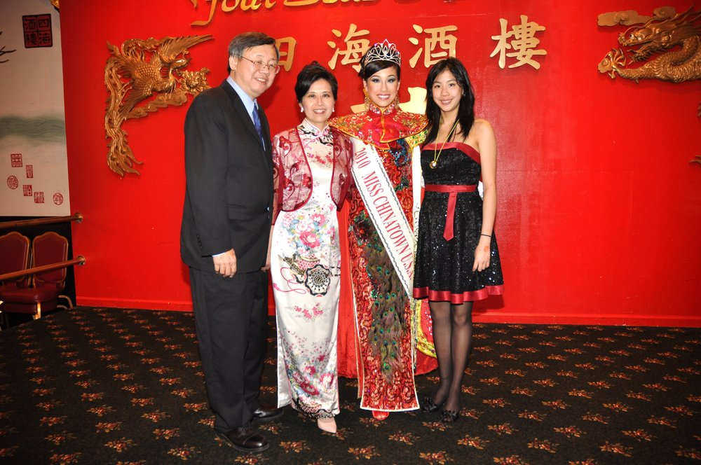 8 years ago I won Miss Chinatown. Here I am with my Dad, Mom, and sister Jasmine. Jasmine would go on to won Miss Chinatown 8 Years Later.