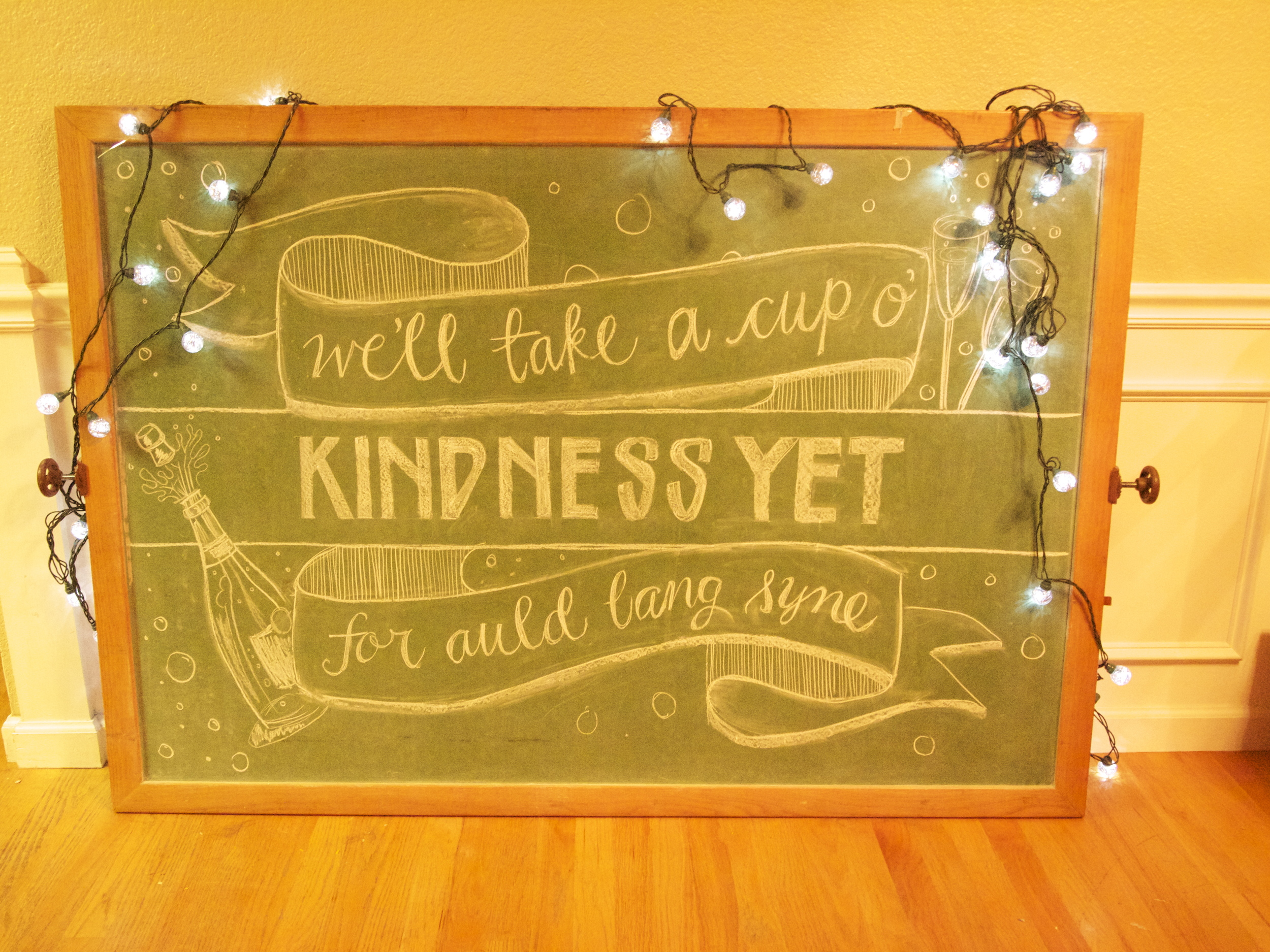Custom Chalk Sign | Dogwood Party Rentals