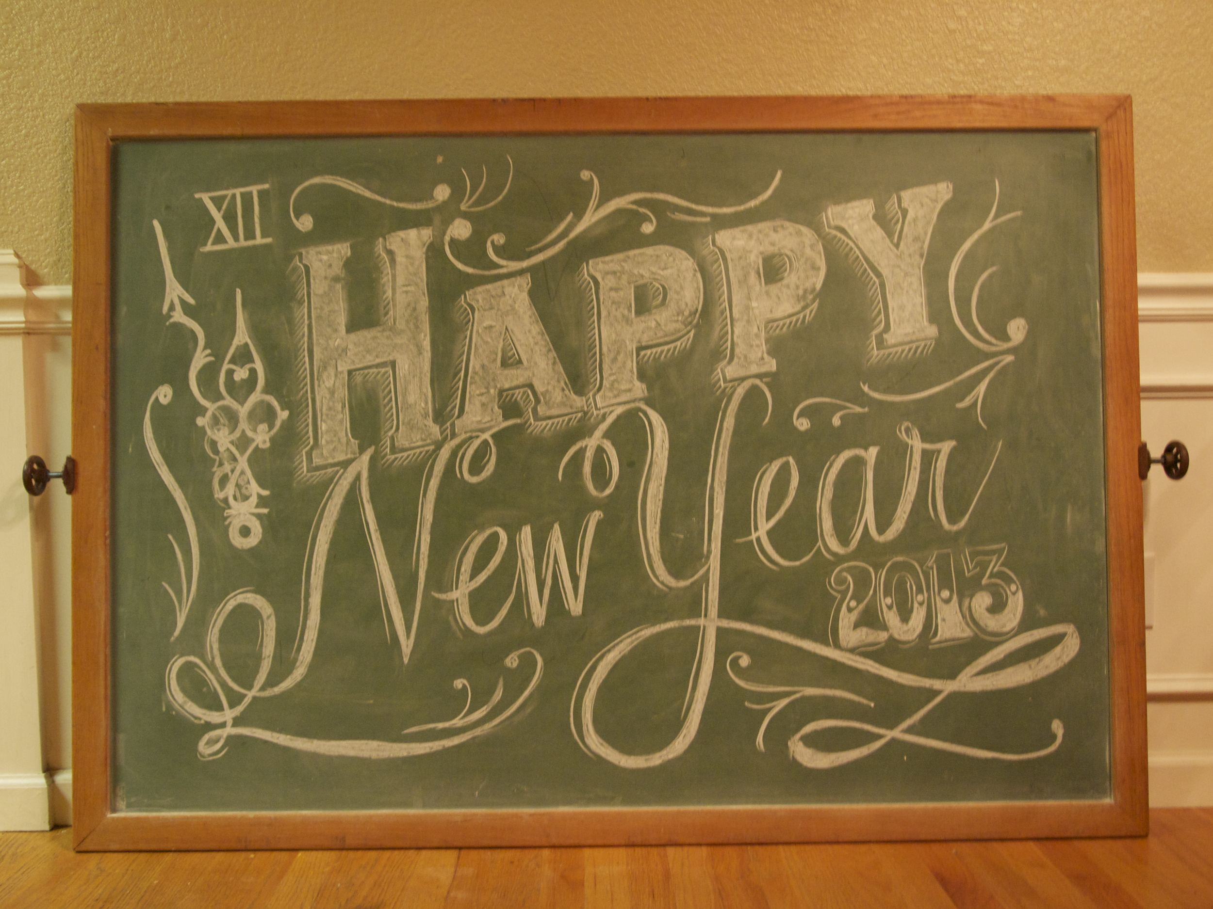 Happy New Year | Custom Chalk Sign | Dogwood Party Rentals