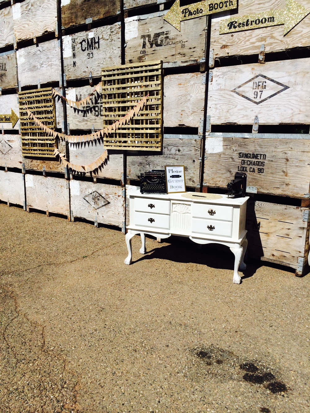 Dogwood Party Rentals | White Vintage Buffet