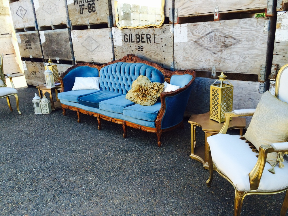 Dogwood Party Rentals Blue Vintage Lounge