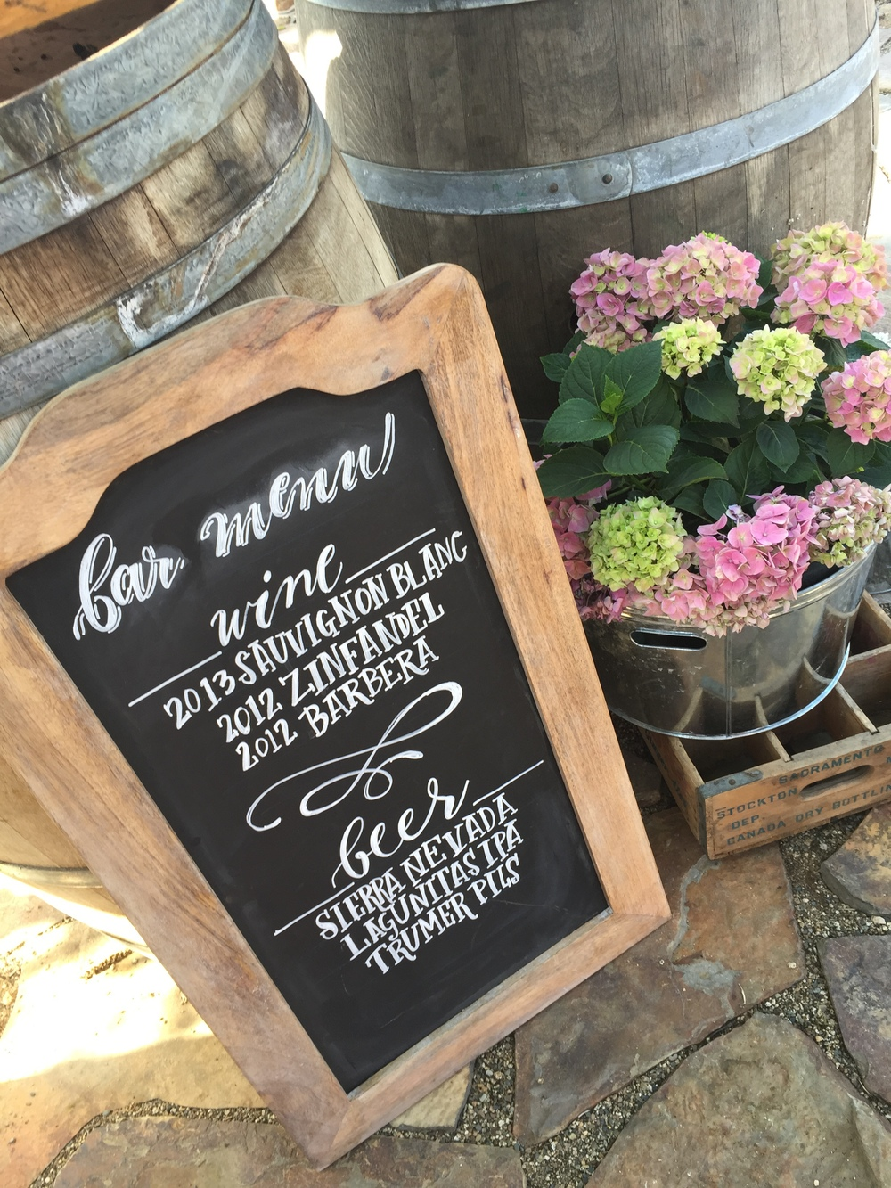 Wedding Chalk Art Custom Signagne