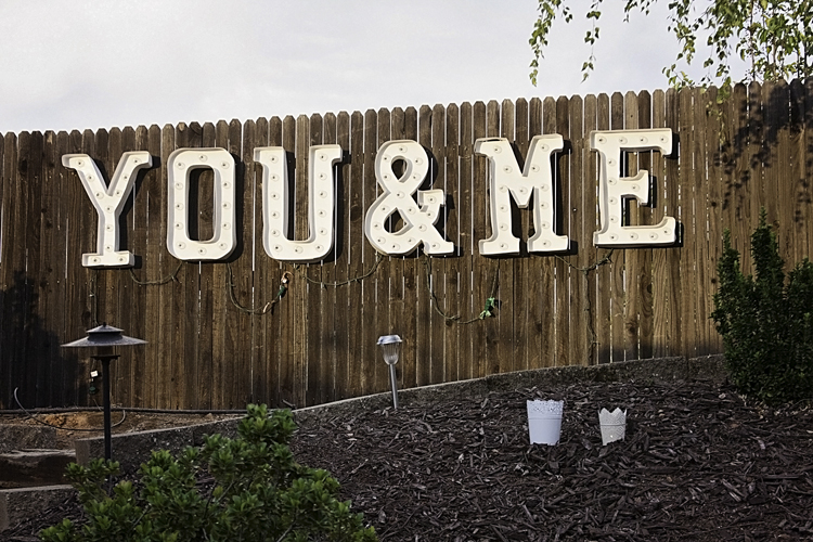 Sacramento Backyard Wedding | CMYK Photography | Dogwood Channel Letter Sign