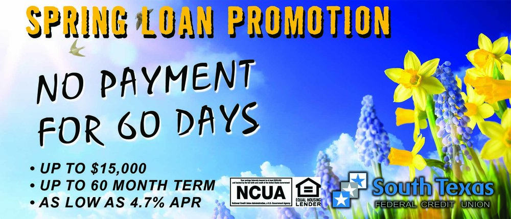 Spring Loans are blooming!  Need to pay off high interest loans/credit cards?  How about a remodeled kitchen or a dream vacation?  Here is your chance!  Click the image to apply!